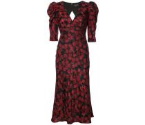 Florales Kleid mit V-Ausschnitt