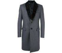 Mantel mit Lammfellbesatz