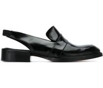 Slingback-Loafer mit Fransen