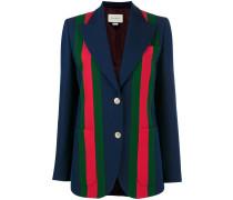 Striped Blazer With Front Buttons