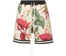 tropical floral print shorts
