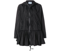 pleated flare jacket