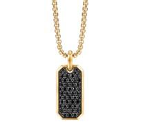 18kt Roman Elongated Gelbgoldamulett mit Diamanten