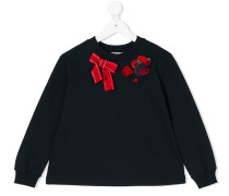 bow embroidered sweater