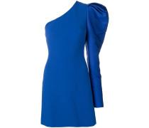 Asymmetrisches Kleid mit Puffärmel