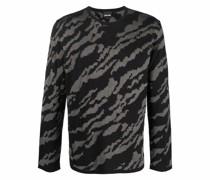 jacquard animal-pattern jumper