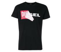 T-Shirt mit Logo-Print im Lagen-Look