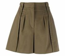 High-Waist-Shorts mit Bundfalten