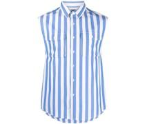 Ungesäumtes Hemd mit Streifen