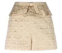 Jacquard-Shorts mit gerüschtem Bund