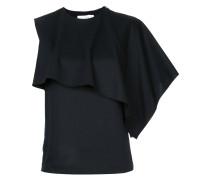 asymmetric cape blouse