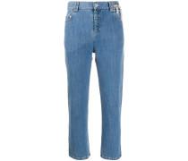 Mittelhohe Cropped-Jeans