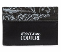 baroque-print faux-leather cardholder