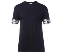 T-Shirt mit gemusterten Details