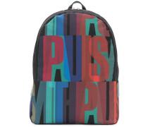 logo lettering-print backpack
