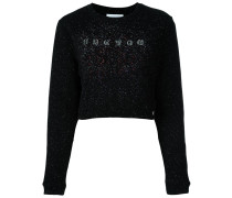 Glitzerndes Sweatshirt mit Logo-Print
