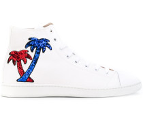 High-Top-Sneakers mit Palmenmotiv