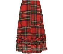 Renata asymmetric tartan skirt