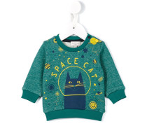 "Sweatshirt mit ""Space Cat""-Print"
