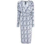 Wickelkleid mit Zebra-Print