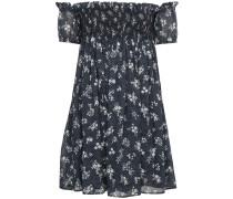 Shirred Off The Shoulder Floral Bardot Dress