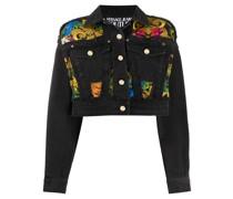 Jeans-Jacke mit barockem Muster