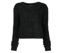 Cropped-Pullover mit Sprenkel-Effekt