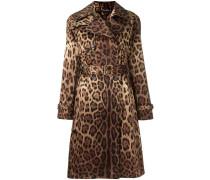 Seidentrenchcoat mit Leoparden-Print - women