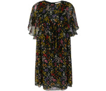 sheer ruffled floral dress