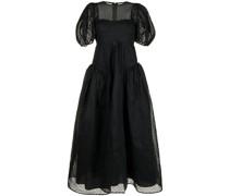 Ausgestelltes Kleid mit Puffärmeln