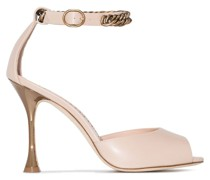Fombra patent-leather sandals