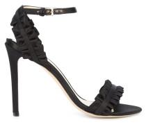 ruffled stiletto sandals