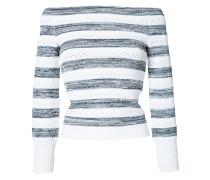 Gestreifter Pullover mit schulterfreiem Design