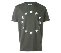 T-Shirt mit Sterne-Stickerei
