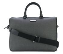 - herringbone logo plaque briefcase - men