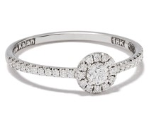 18kt white gold diamond solitaire ring
