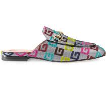 Princetown velvet G lurex loafers