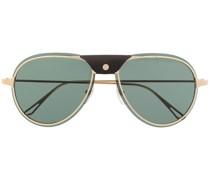 Pilotenbrille mit Lederdetail
