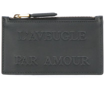 """Kartenetui mit """"L'Aveugle Par Amour""""-Prägung"""