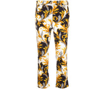 Acanthus print cropped jeans