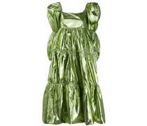 Gestuftes Metallic-Kleid