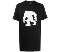 T-Shirt mit Schimpansen-Print