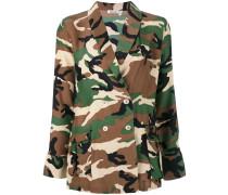 P.A.R.O.S.H. Camouflage-Blazer aus Seide