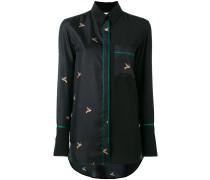 Seidenhemd mit Kolibri-Print - women - Seide - 8
