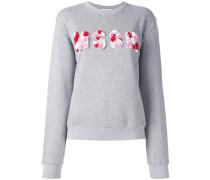- Sweatshirt mit verziertem Logo - women