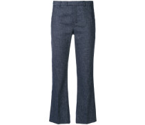 'S Max Mara chambray cropped trousers
