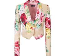 Jacke mit Blumen-Print