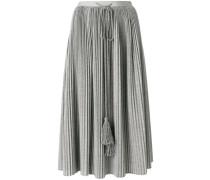 pleated tassel drawstring skirt