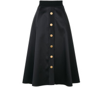 buttoned A-line midi skirt