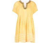 Gesmoktes Wubet Kleid mit Streifen